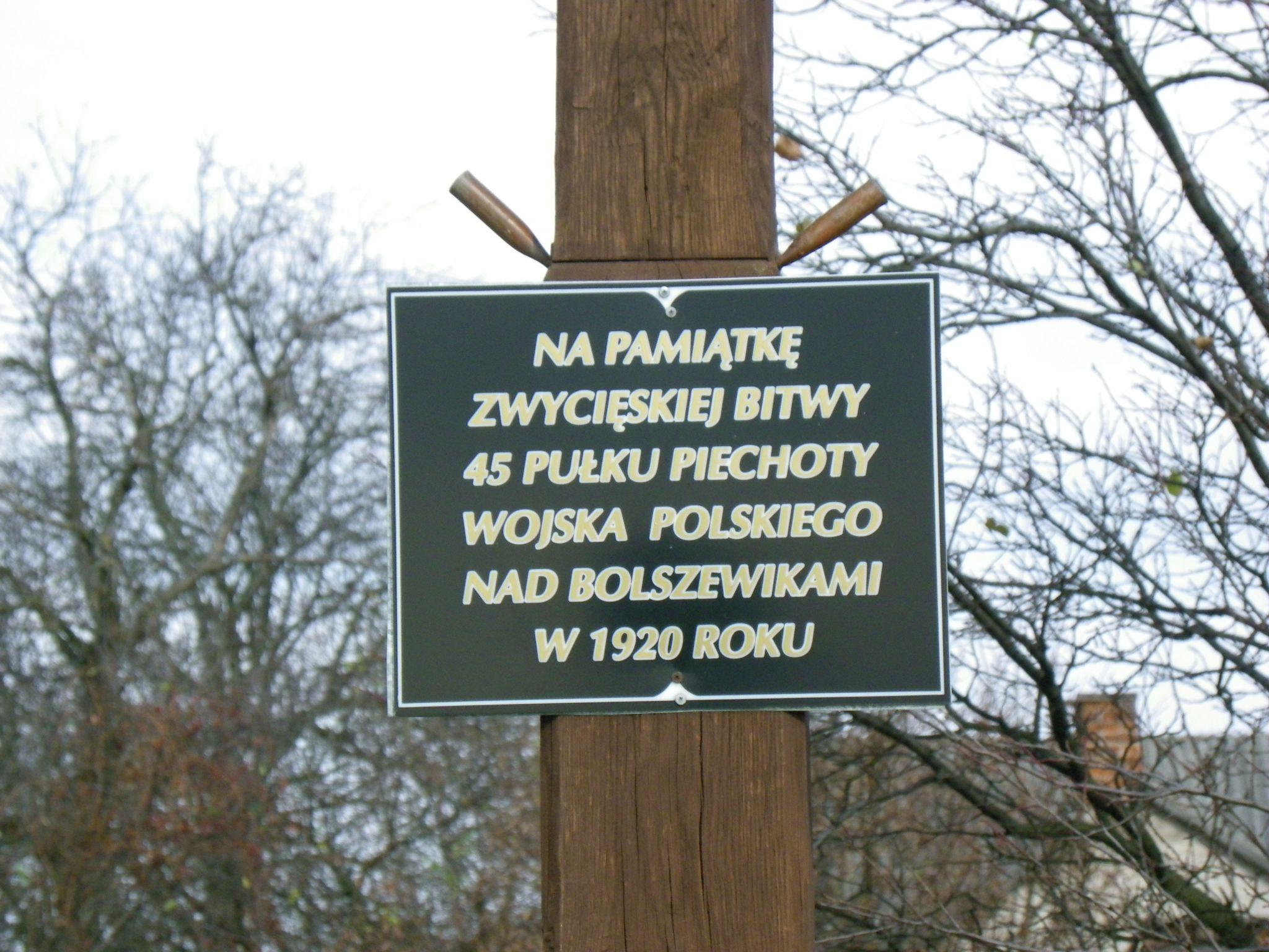 labunki tabliczka POZNAWAJ Z KURIEREM: Na pamiątkę potyczek z armią Budionnego