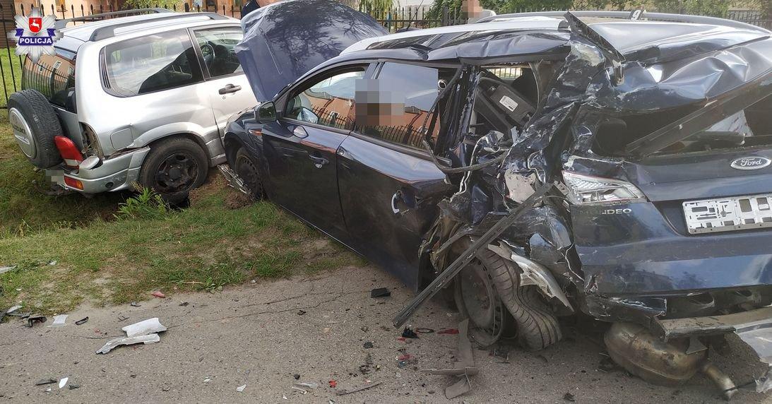 68 153210 Zderzenie trzech aut. 7 osób w szpitalu