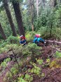 """Coming up the bootpath toward Kaleetan. Since it was so wet we opted to skip the white ledges route and try for the """"normal"""" route instead."""