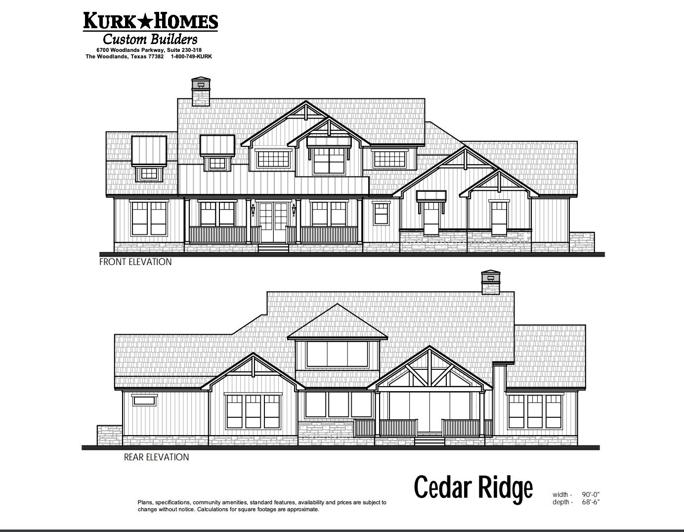 the cedar ridge kurk homes