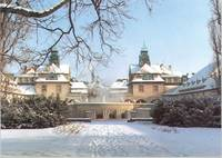 Der Sprudelhof in Bad Nauheim im Winter