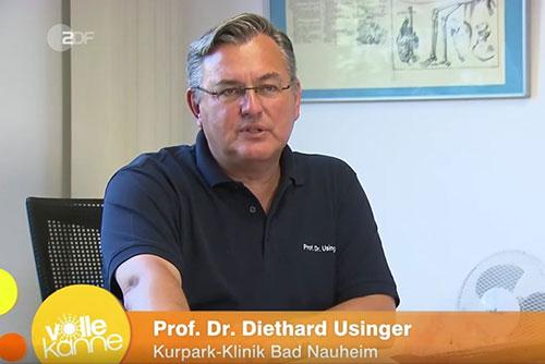 Prof. Dr. Usinger erklärt im ZDF die Ganzkörper-Kältetherapie