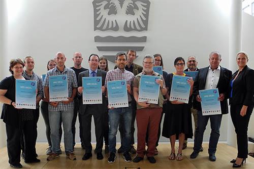 Gruppenbild Verleihung des MRE Siegels 2019