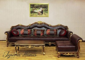 Kursi Sofa Sudut Royal Mewah GC15