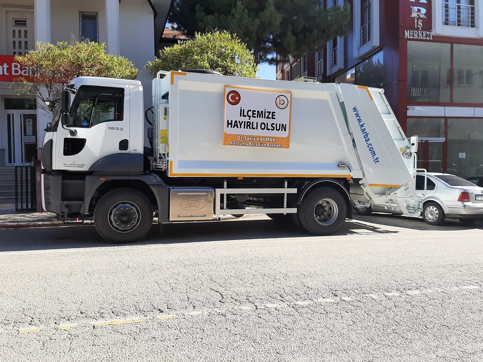Çevre Bakanlığı Destekleri Olarak 1 Adet Çöp Arabası Alındı