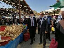 Kaymakam'ımız Sayın İlyas Öztürk ve Belediye Başkanımız Sayın Dt.Şakir Kaymak Pazar Ziyareti