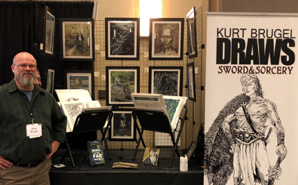 kurt brugel at ix 2017 fantasy art show