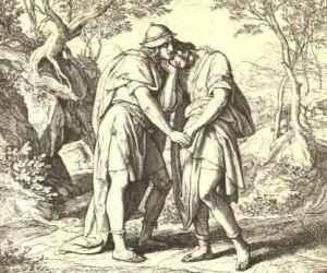 Jonathan_Lovingly_Taketh_His_Leave_of_David_by_Julius_Schnorr_von_Carolsfeld