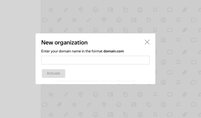 Yandex connect add new domain