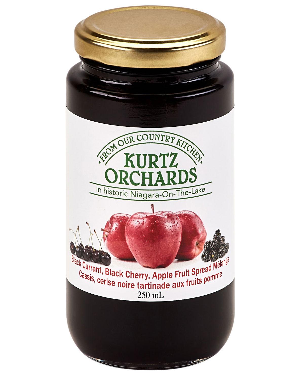Black Currant, Black Cherry, Apple Fruit Spread Melange