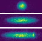Experimental images of an expanding spin-orbit superfluid Bose-Einstein condensate at different expansion times (credit: M. A. Khamehchi et al./Physical Review Letters)