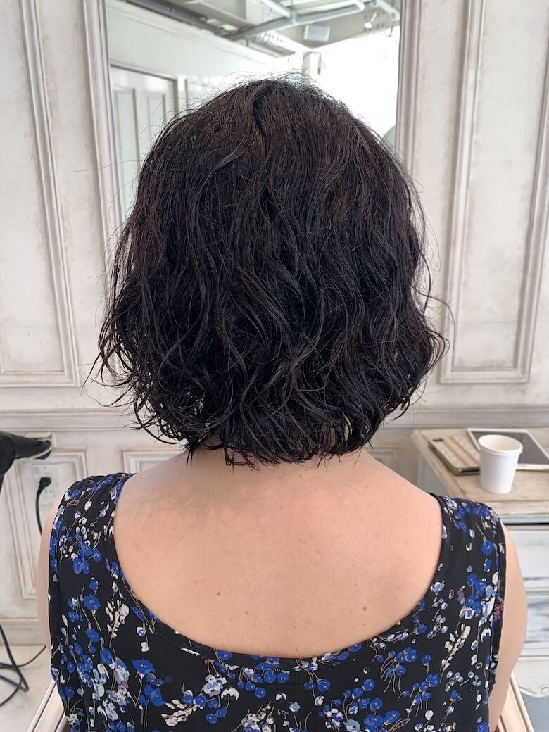 くせ毛を活かす,AFTER