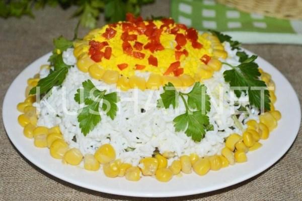 Слоеный салат со свининой и грибами. Пошаговый рецепт с ...