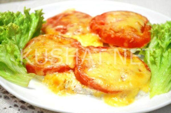 Куриная грудка с помидорами и сыром в духовке. Пошаговый ...