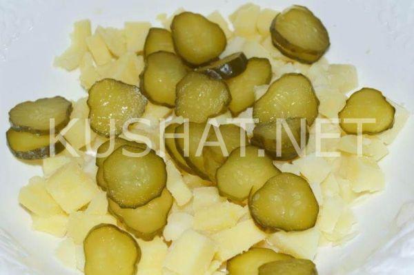 Картофельный салат с солеными огурцами. Пошаговый рецепт ...