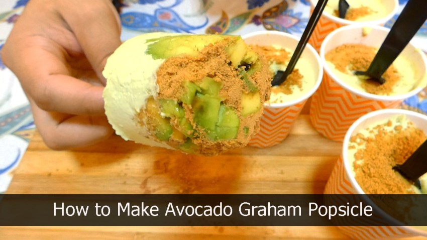 How to Make Avocado Graham Popsicle