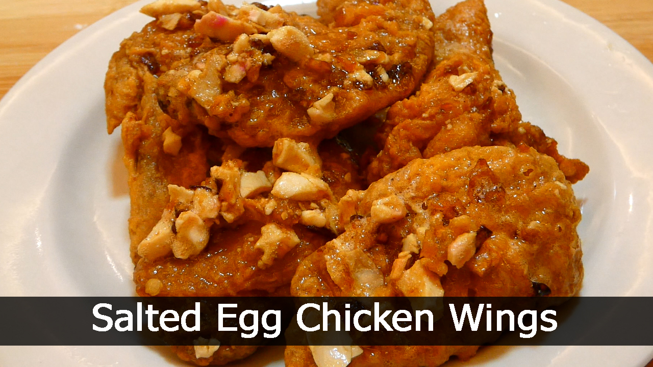 Salted Egg Chicken Wings
