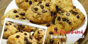 No Bake - Banana Chocolate Chip Cookies