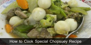 Special Chopsuey Recipe