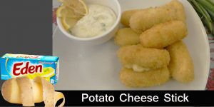 How to Cook Potato Cheese Stick with Mayo Garlic Sauce Recipe