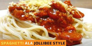 How to Make Delicious Spaghetti ala JOLLIBEE Style