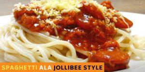 How to Make Delicious Spaghetti ala JOLLIBEE Style
