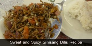 Sweet and Spicy Ginisang Dilis Recipe