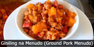 Giniling na Menudo (Ground Pork Menudo)