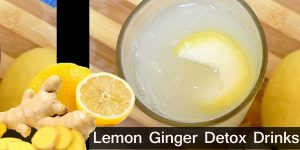 How to Make Lemon Ginger Detox Drinks / Healthy Drinks