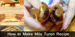 Milo Turon Recipe