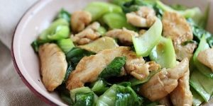 Stir-Fried Chicken With Bok Choy Recipe