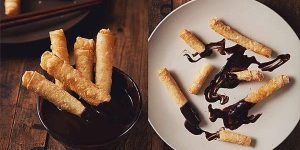 Tikoy Lumpia With Chocolate Dip Recipe