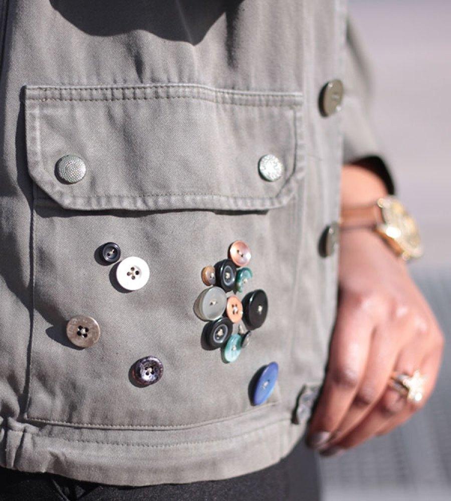 Customisation d'une veste militaire | Kustom Couture