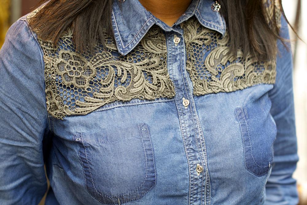 Customisation d'une chemise en jean | Kustom Couture
