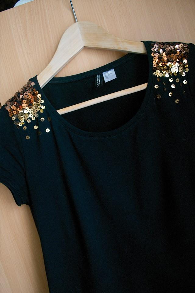 Customisation d'un t-shirt avec un dégradé de paillettes | Kustom Couture