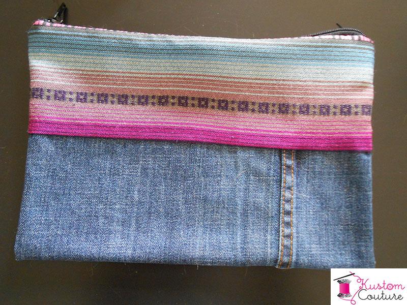 DIY Pochette en jean et navajo | Kustom Couture