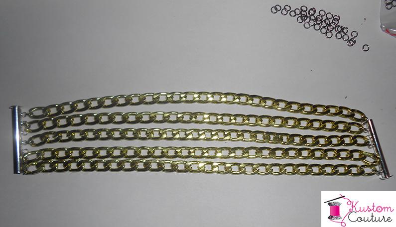 DIY Bracelet manchette en chaînes | Kustom Couture