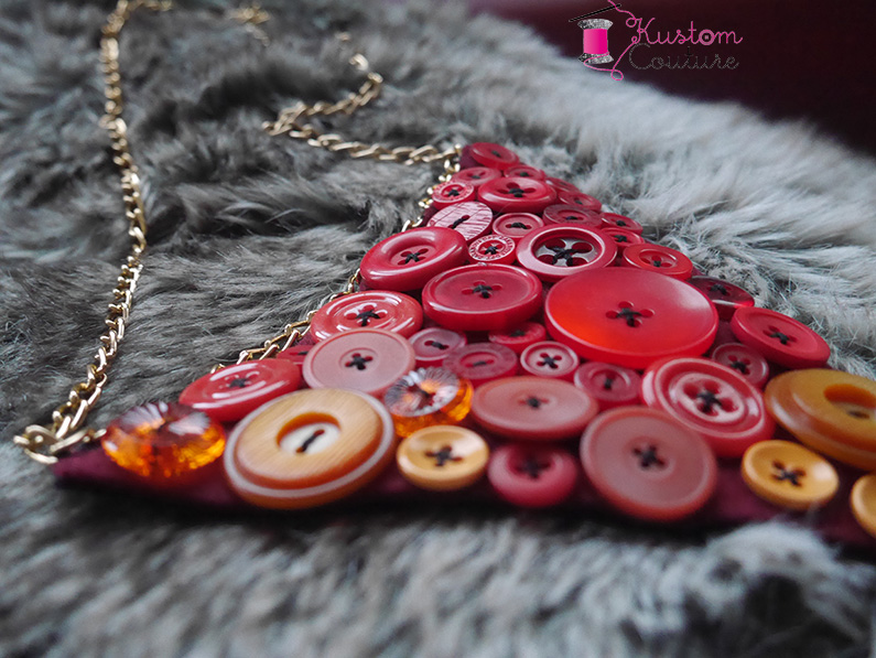 DIY Collier avec boutons   Kustom Couture