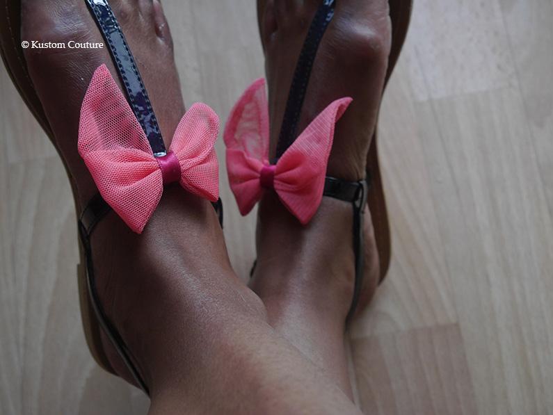 Customisation de nu-pieds avec noeuds | Kustom Couture