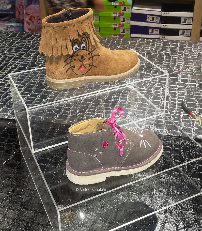 Atelier DIY La Halle aux Chaussures | Customisation de bottines Chealsea | Kustom Couture