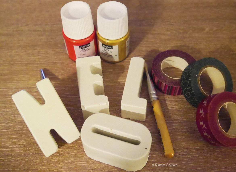 DIY Décoration - Lettres en ciment | Kustom Couture