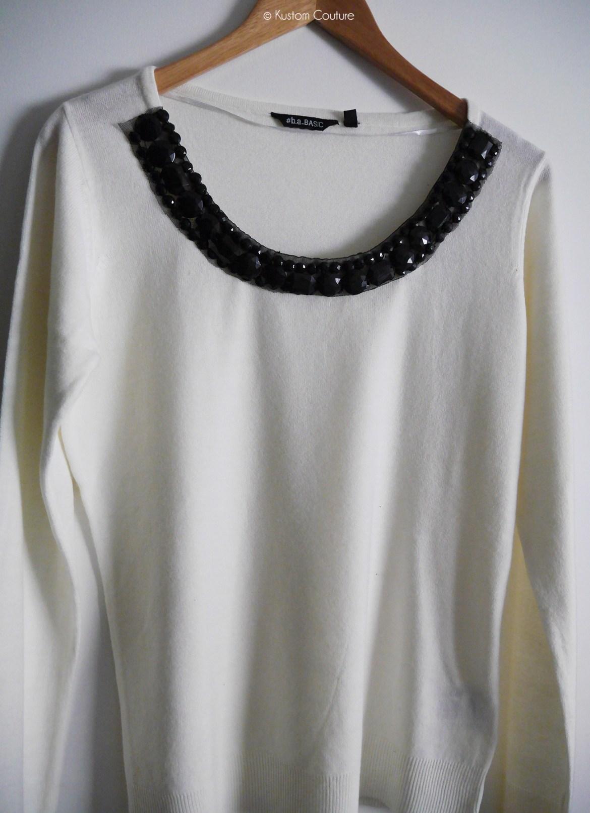 Customisation d'u pull avec ruban | Kustom Couture