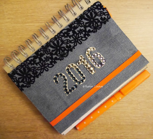 Customiser un agenda 2016 | Kustom Couture