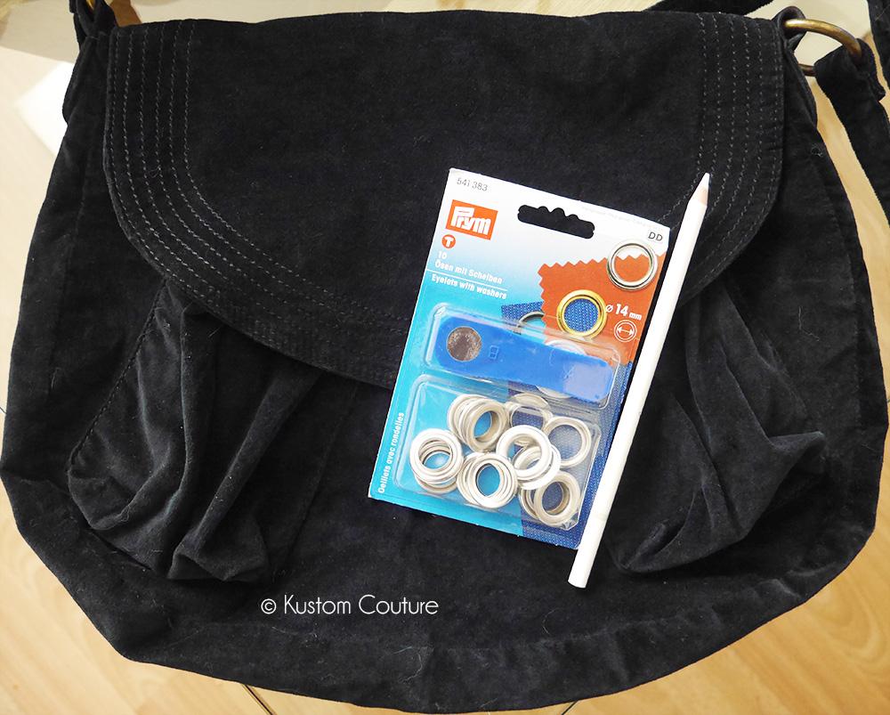 Customiser un sac avec des oeillets | Kustom Couture