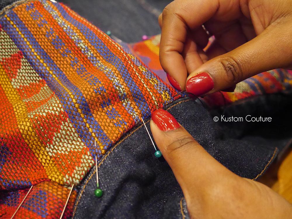 Upcycling d'une veste en jean | Kustom Couture