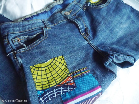 Customiser un jean avec un patchwork | Kustom Couture