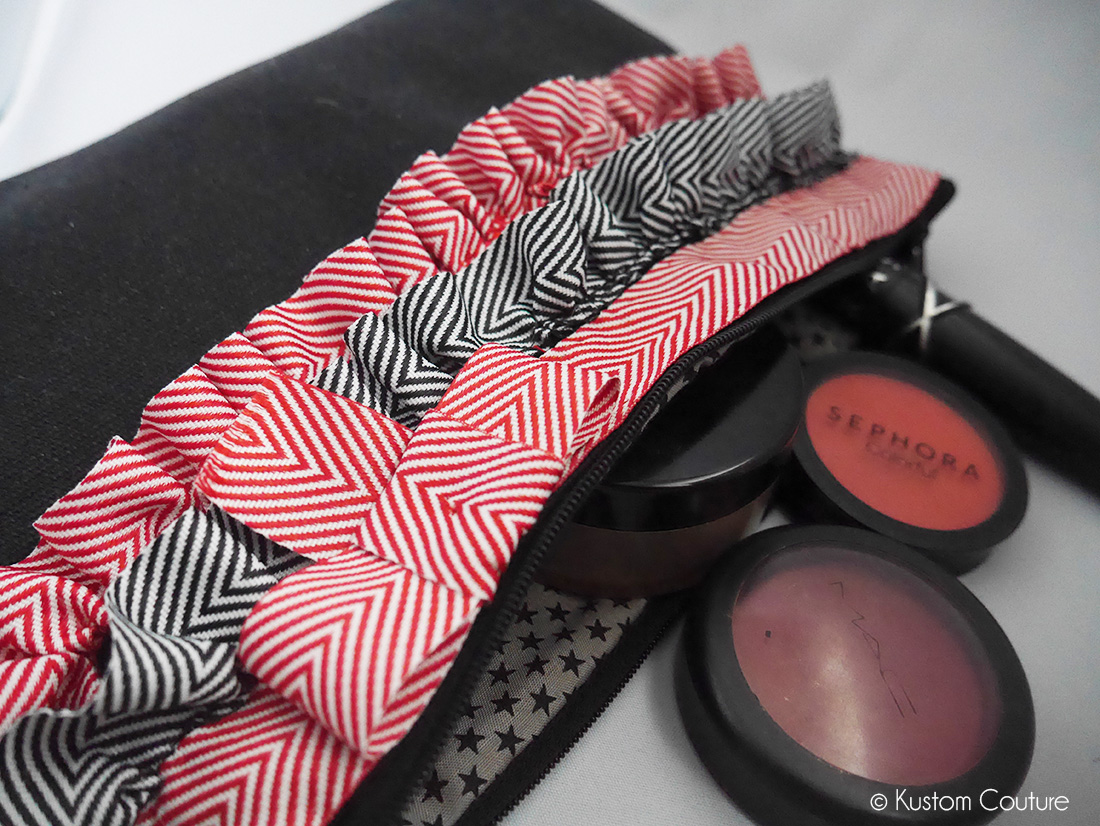 Customisation d'une trousse à maquillages   Kustom Couture