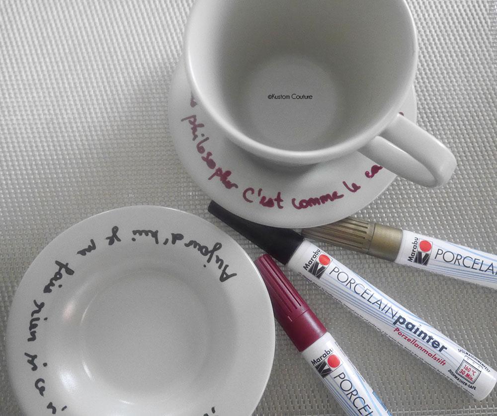 Customiser des tasses de café | Kustom Couture