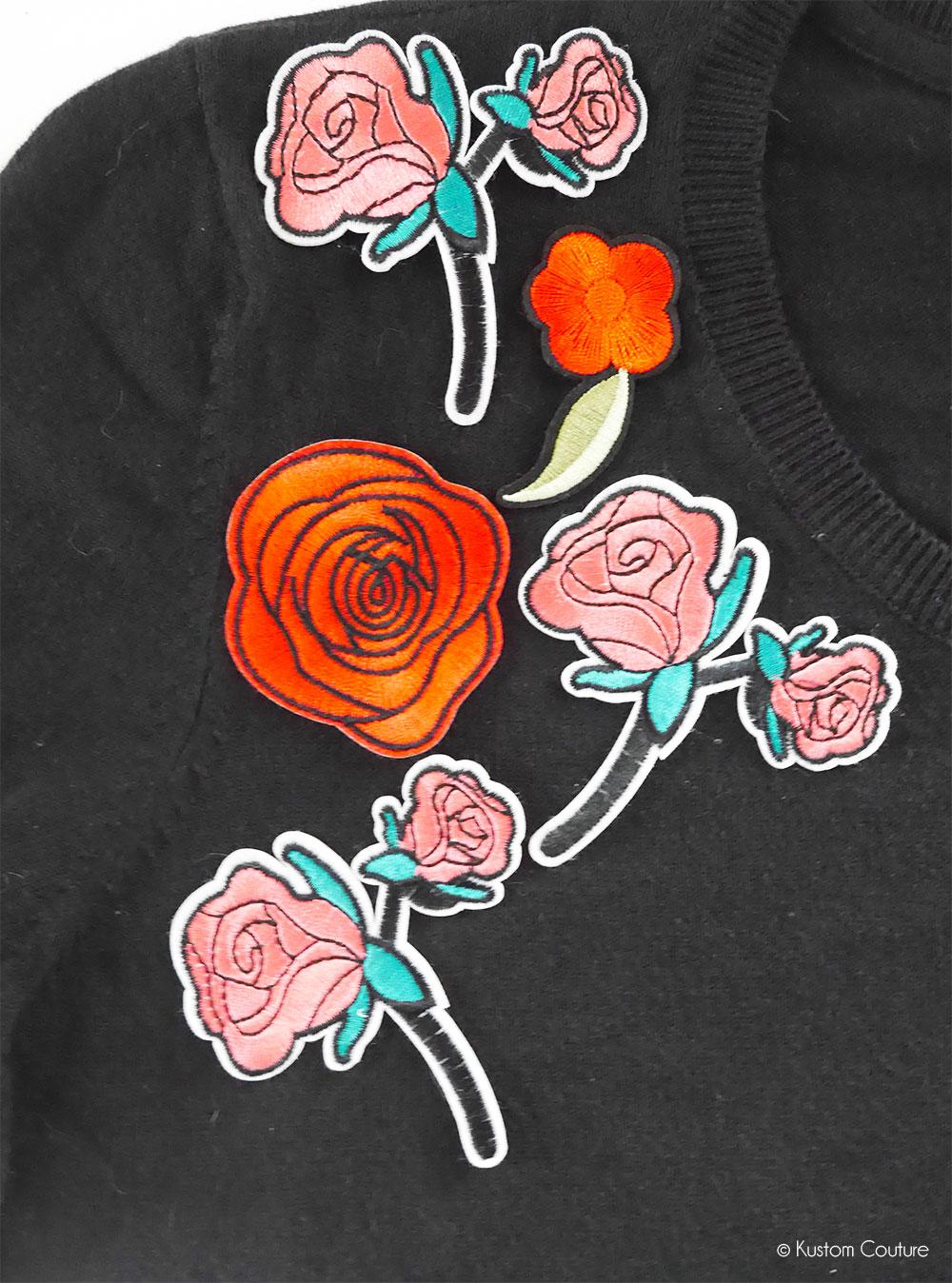 Comment customiser un pull basique avec des écussons thermocollants ? | Kustom Couture