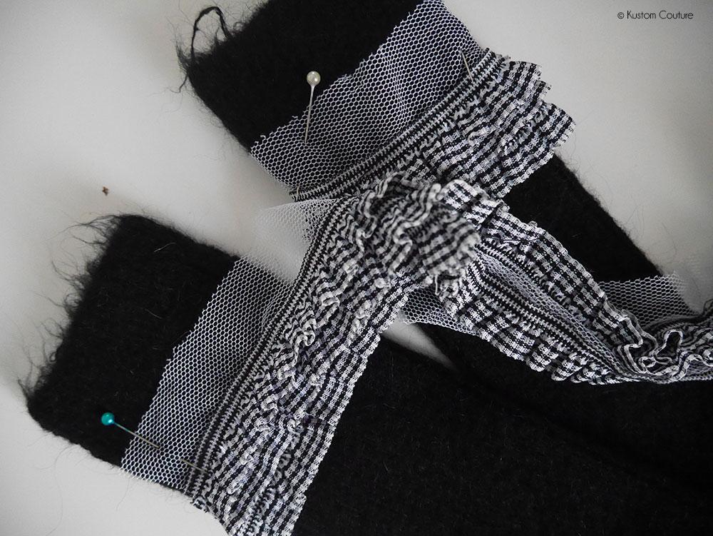 Customisation de chaussettes avec du ruban   Kustom Couture